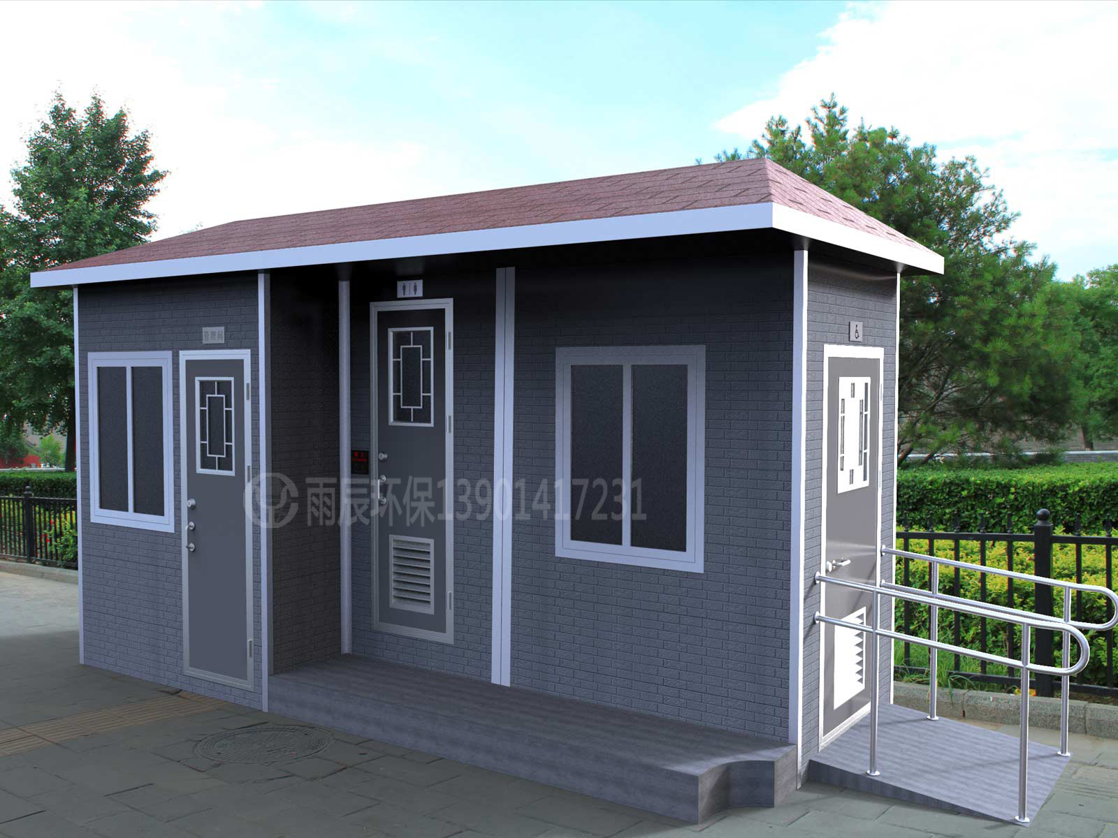 WCE-JS40206 经济适用公厕